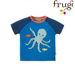 "frugi - Bio Baby T-Shirt ""Renny"" mit Kraken-Motiv"