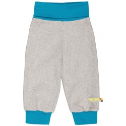 loud + proud - Bio Baby Fleece Hose, grau