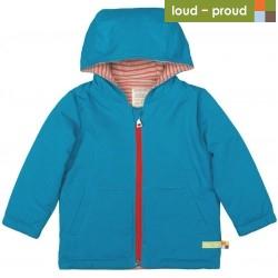 loud + proud - Bio Kinder Jacke wattiert und wasserabweisend, petrol