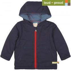 loud + proud - Bio Kinder Jacke wattiert und wasserabweisend, midnight