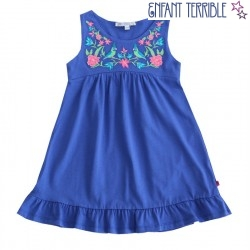Enfant Terrible - Bio Jersey Kleid mit Stickerei, marine