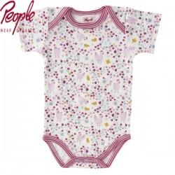 People Wear Organic - Bio Baby Body kurzarm mit Hühnchen-Motiv