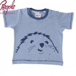 People Wear Organic - Bio Baby T-Shirt mit Streifen und Robben-Motiv