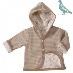 Pigeon - Bio Baby Wende Sweatjacke mit Waltieren-Motiv und Streifen