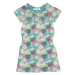 "Sense Organics - Bio Kinder Jersey Kleid ""Sari"" mit Korallen-Motiv"