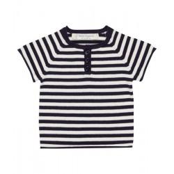 "Sense Organics - Bio Baby Strick T-Shirt ""Rene"" mit Streifen"