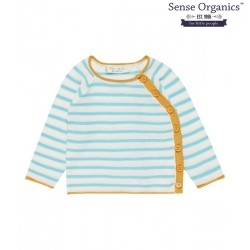 Sense Organics - Bio Baby Strickjacke mit Streifen