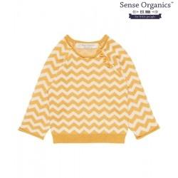 "Sense Organics - Bio Baby Strick Pullover ""Victor"" mit Zickzack-Muster"