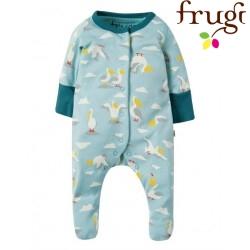 frugi - Bio Baby Strampler mit Pelikan-Motiv