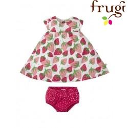 """frugi - Bio Baby Set Kleid und Höschen """"Pretty Polly"""" mit Erdbeer-Motiv"""