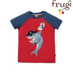 "frugi - Bio Kinder T-Shirt ""Rafe"" mit Hai-Motiv"