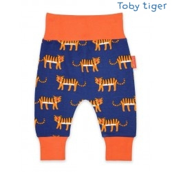 Toby tiger - Bio Baby Sweathose mit Tiger-Allover