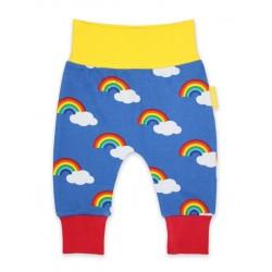 Toby tiger - Bio Baby Sweathose mit Regenbogen-Allover