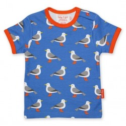 Toby tiger - Bio Kinder T-Shirt mit Möwen-Allover