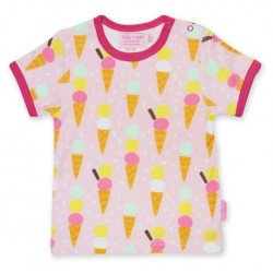 Toby tiger - Bio Kinder T-Shirt mit Eiscreme-Allover