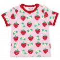 Toby tiger - Bio Kinder T-Shirt mit Erdbeer-Allover