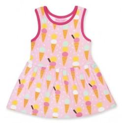 Toby tiger - Bio Kinder Jersey Kleid mit Eiscreme-Allover