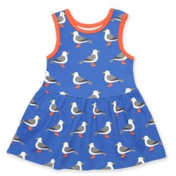 Toby tiger - Bio Kinder Jersey Kleid mit Möwen-Allover