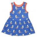 Toby tiger - Bio Kinder Jersey Kleid mit Möwen-Allover