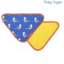 Toby tiger - Bio Baby Tuch mit Möwen-Allover und Fleece-Rückseite