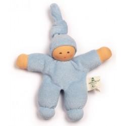 Nanchen Natur - Bio Baby Pimpel 17cm, hellblau