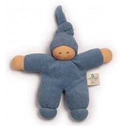 Nanchen Natur - Bio Baby Pimpel 17cm, blau