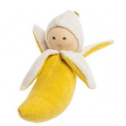 Nanchen Natur - Bio Baby Rassel Banane 16cm