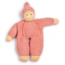 Nanchen Natur - Bio Baby Schmusepuppe 22cm, rosa