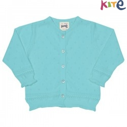 kite kids - Bio Kinder Strickjacke mit Ajour-Muster