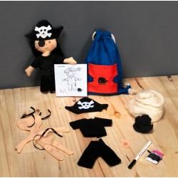Walkiddy - Bio Bastelset Pirat, 30 cm