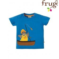 """frugi - Bio Baby T-Shirt """"Little Creature"""" mit Seehund-Motiv"""