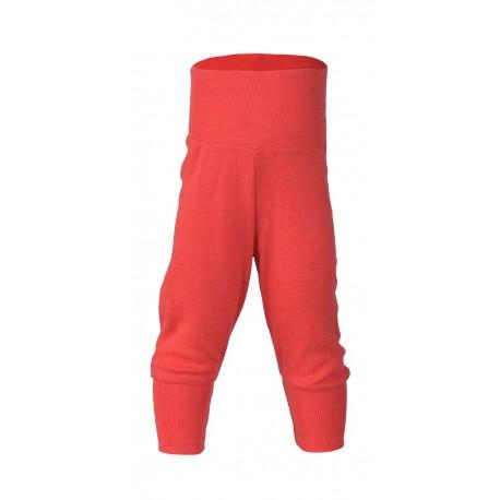 ENGEL - Bio Baby Hose mit Nabelbund, Wolle, hibiscus