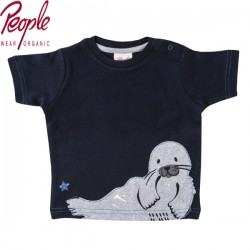 People Wear Organic - Bio Baby T-Shirt mit Robben-Motiv