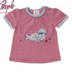 People Wear Organic - Bio Baby T-Shirt mit Robben-Motiv und Streifen