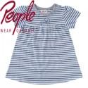 People Wear Organic - Bio Baby Kleid mit Robben-Motiv und Streifen