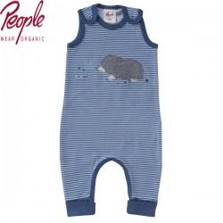 People Wear Organic - Bio Baby Strampler mit Maulwurf-Motiv und Streifen