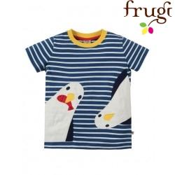 "frugi - Bio Kinder T-Shirt ""Sid"" mit Pinguin-Motiv"