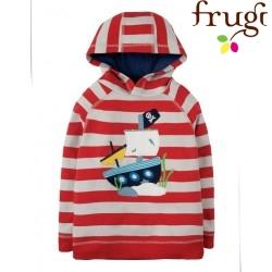 "frugi - Bio Kinder Sweatshirt ""Hedgerow"" mit Piratenschiff-Motiv"