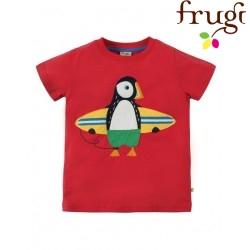 """frugi - Bio Kinder T-Shirt """"Stanley"""" mit Papageientaucher-Motiv"""