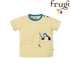 """frugi - Bio Baby T-Shirt """"Penzance"""" mit Pinguin-Motiv und Streifen"""