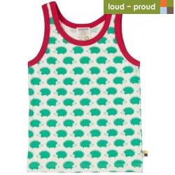 loud + proud - Bio Kinder Unterhemd mit Igel-Druck