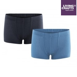 LIVING CRAFTS - Bio Kinder Shorts Doppelpack uni