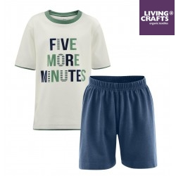 "LIVING CRAFTS - Bio Kinder Schlafanzug kurz ""Five more Minutes"""