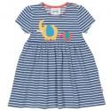 kite kids - Bio Kinder Kleid mit Streifen und Elefanten-Motiv