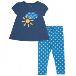 kite kids - Bio Kinder Set T-Shirt + Leggings mit Sonnen-Motiv