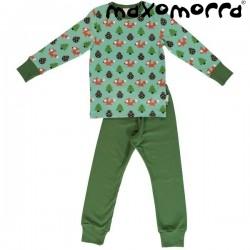 Maxomorra - Bio Kinder Schlafanzug mit Eichhörnchen-Motiv
