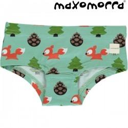 Maxomorra - Bio Kinder Panty mit Eichhörnchen-Motiv