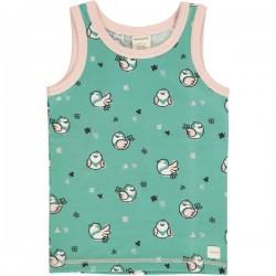 Maxomorra - Bio Kinder Unterhemd mit Spatzen-Motiv