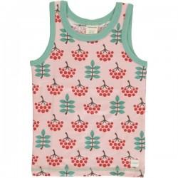 Maxomorra - Bio Kinder Unterhemd mit Vogelbeeren-Motiv