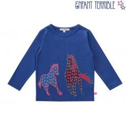 Enfant Terrible - Bio Kinder Langarmshirt mit Pferde-Motiv